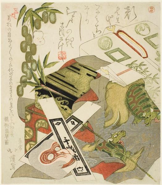 Still-Life with Monkey Mask, 1824 - Toyota Hokkei