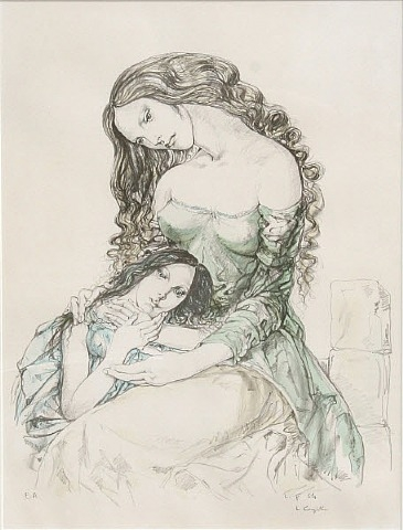 Woman and Child, 1965 - Tsuguharu Foujita