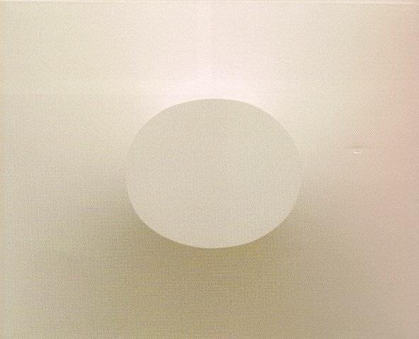 Superficie bianca con ovale in positivo - Turi Simeti