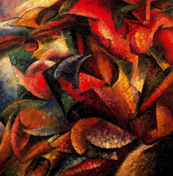 Dynamism of a Human Body, 1913 - Umberto Boccioni