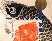 Banner per il festival dei ragazzi - Utagawa Kuniyoshi