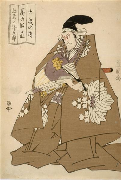Actor Bando Mitsugoro III as Ko no Moronao, 1814 - 歌川豐國