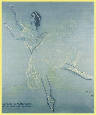 Poster for the 'Saison Russe' at the Theatre du Chatelet, 1909 - Valentin Serov