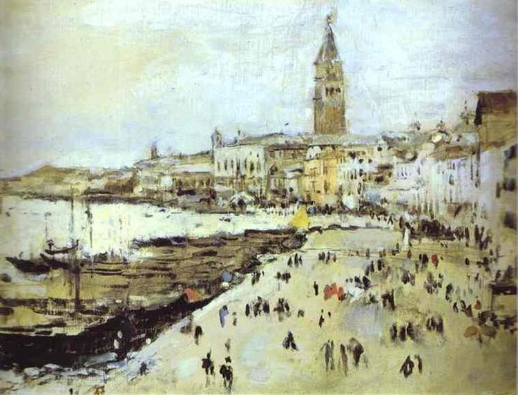 Seaside in Venice, 1887 - Valentin Serov