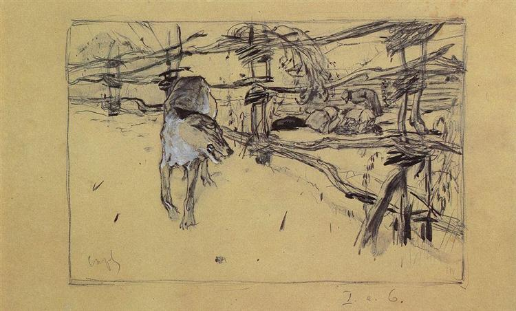 The Wolf and the Shepherds, 1898 - Valentin Serov