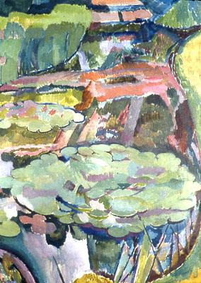 Landscape with a Pond and Water Lilies, 1915 - Vanessa Bell