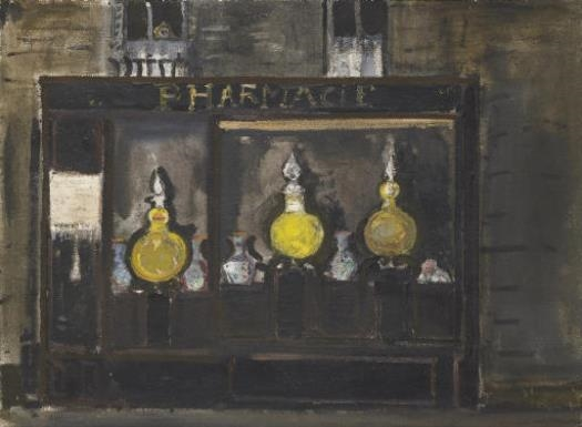 Apotheke in Paris, 1957 - Varlin