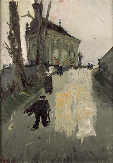 Die 'Chapelle de Lorette' in Fribourg, 1940 - Varlin