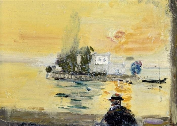 Insel Salagnon bei Clarens, 1936 - Varlin