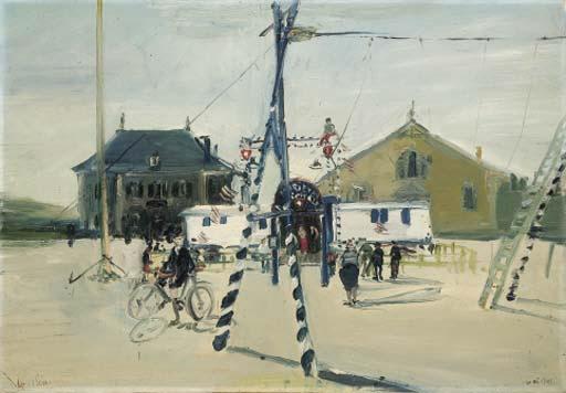 Les Variétés nationales, Zirkus in Rapperswil, 1940 - Varlin