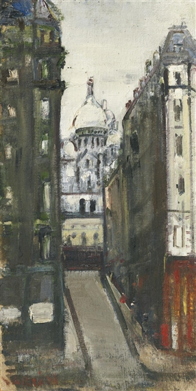 View onto Sacré-Coeur, Montmartre - Varlin