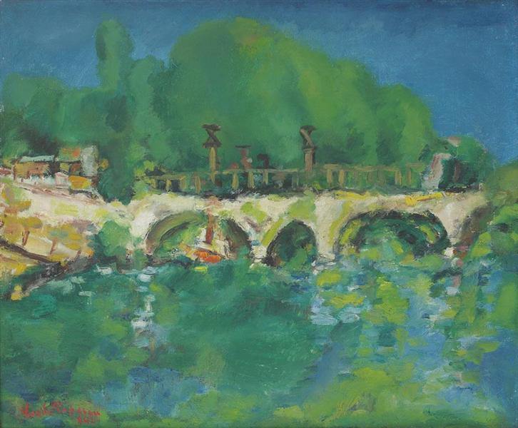 Bridge Over Sabar, 1942 - Василе Попеску