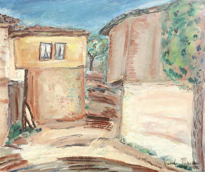 Houses in Balchik, 1933 - Vasile Popescu