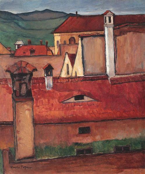 Rooftops, 1920 - Vasile Popescu