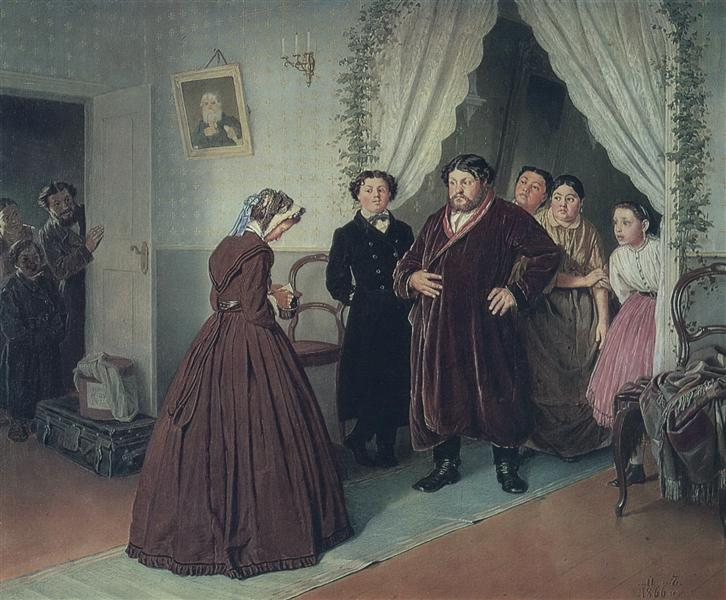 Arrival of a New Governess in a Merchant House, 1866 - Vasily Perov