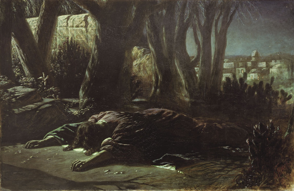 Christ In Gethsemane Vasily Perov
