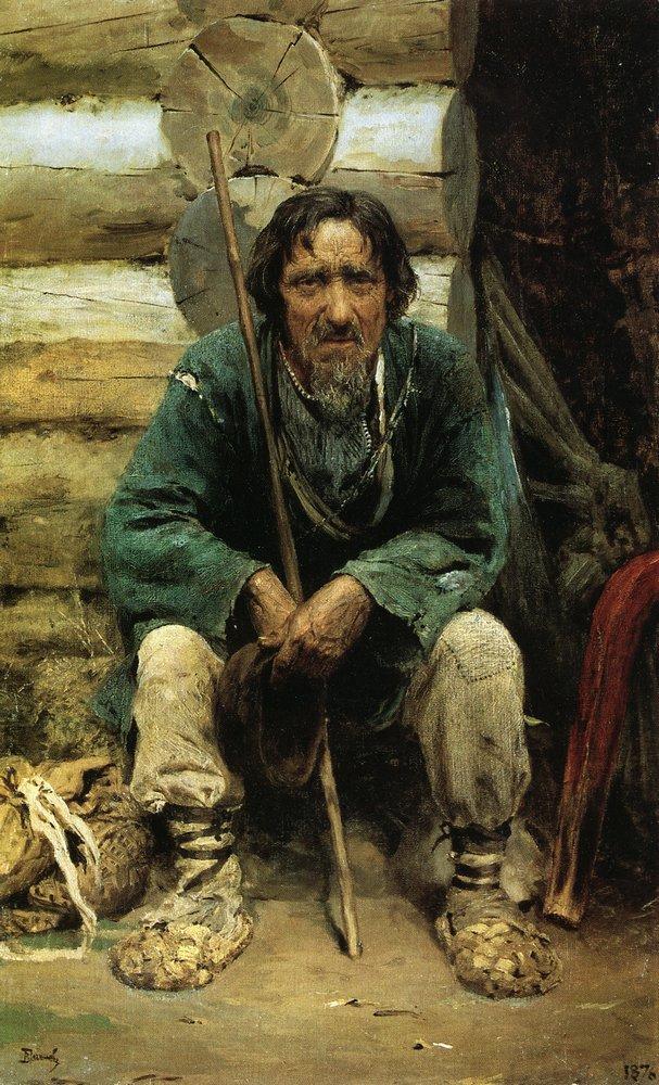 The bylinas narrator Nikita Bogdanov - Vasily Polenov ... Больная Поленов