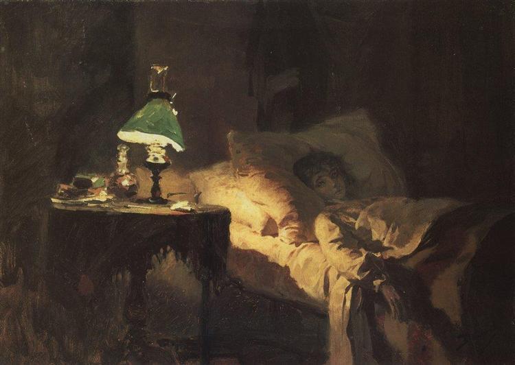 The ill woman, c.1886 - Vasily Polenov