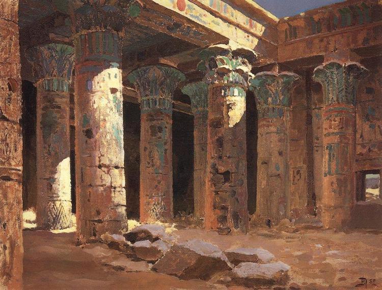 The Temple of Isis on Philae island, 1882 - Vasily Polenov