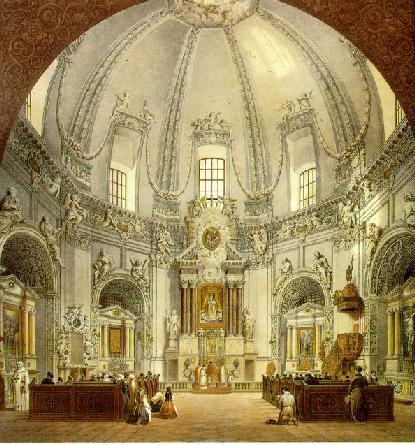 Interior of Trinitarian Church in Vilnius, Lithuania, 1846 - Vasily Sadovnikov