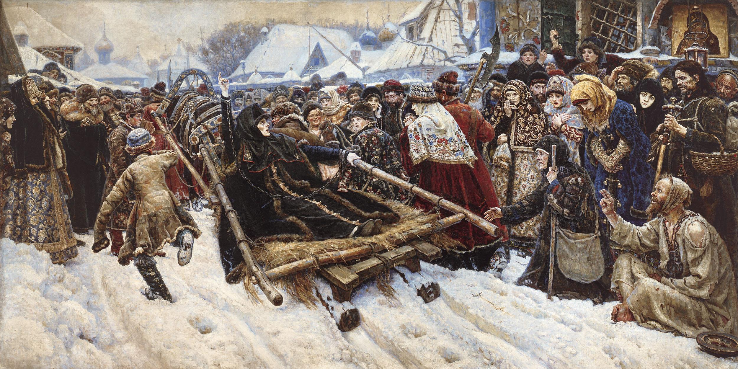 Boyarynya Morozova - Vasily Surikov - WikiArt.org: www.wikipaintings.org/en/vasily-surikov/boyarynya-morozova-1887