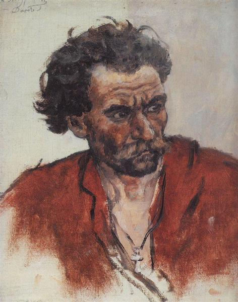 Cossack with red shirt, c.1901 - Vasily Surikov