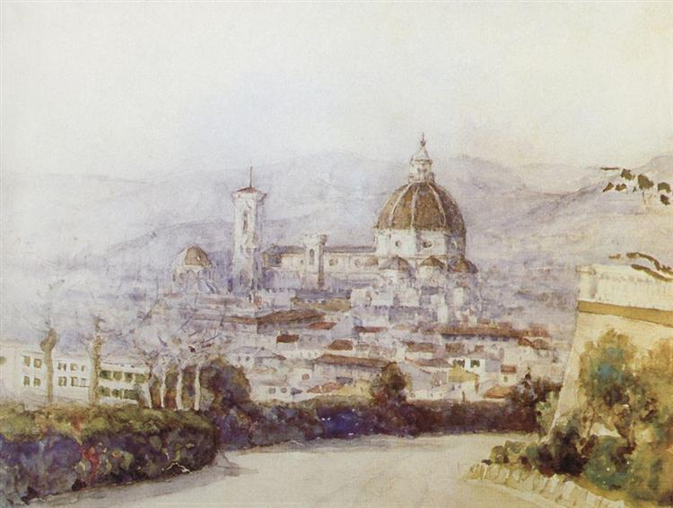 Florence, 1884 - Vasily Surikov