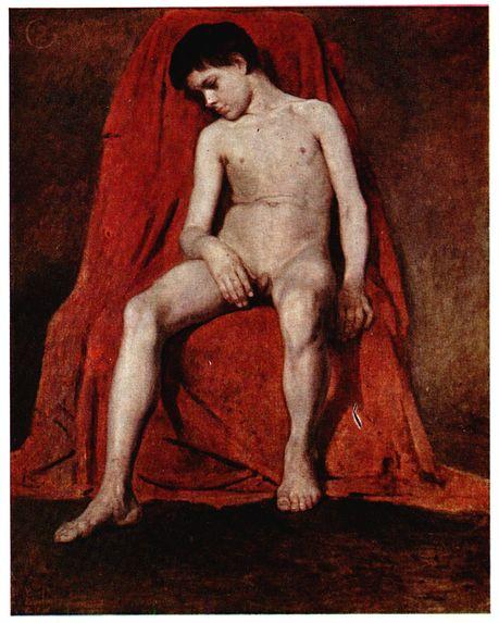 Male nude, 1874 - Vasily Surikov
