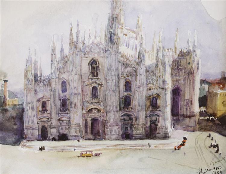 Milan's Cathedral, 1884 - Vasily Surikov