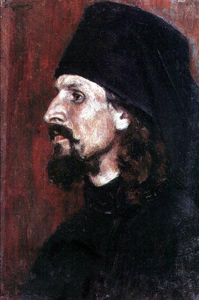 Monk, c.1907 - Vasily Surikov