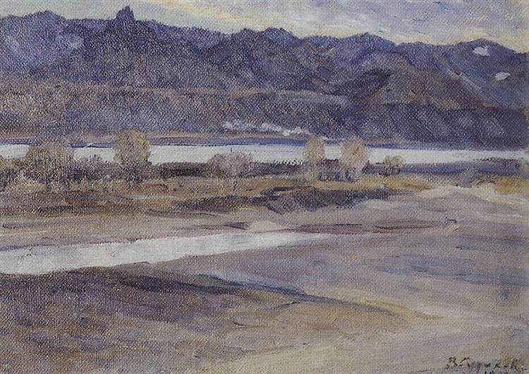 Mountains near Krasnoyarsk, 1909 - Vasily Surikov