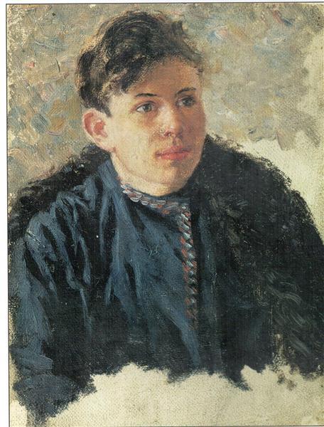 Portrait of young Leonid Chernyshev, 1890 - Vasily Surikov
