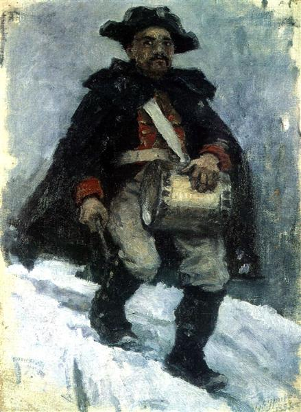 Soldier with drum, 1898 - Vasili Súrikov
