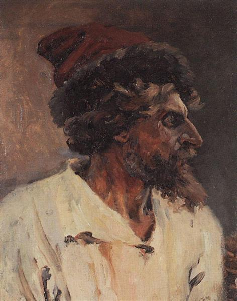 Strelets with cap, 1879 - Vasily Surikov