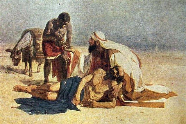 The Good Samaritan, 1874 - Vasily Surikov