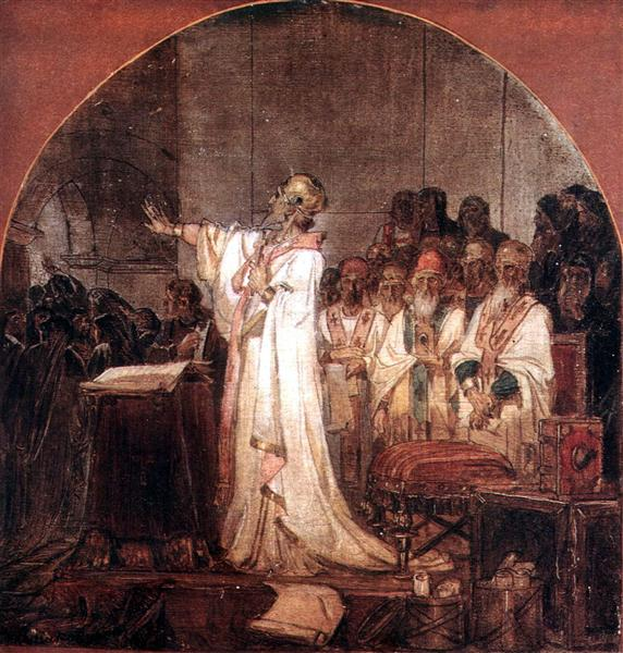 Third Ecumenical Council of Ephesus, 1876 - Vasily Surikov