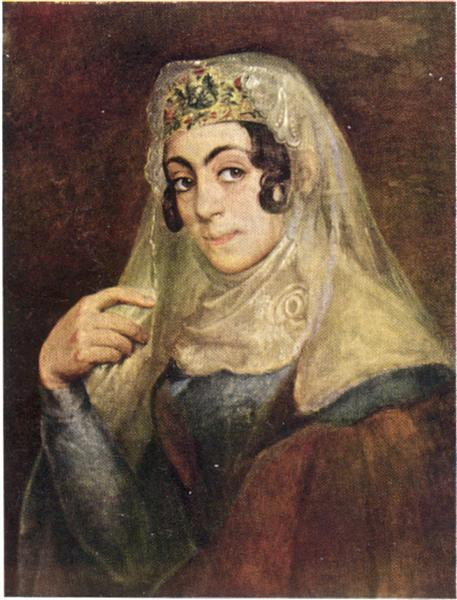 A portrait of a Georgian woman - Vasily Tropinin