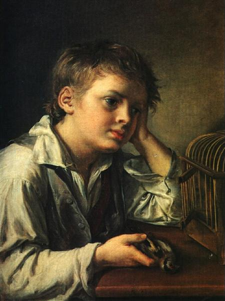 Boy with a Dead Goldfinch, 1829 - Vasili Tropinin
