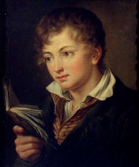 Boy with book - Vasily Tropinin