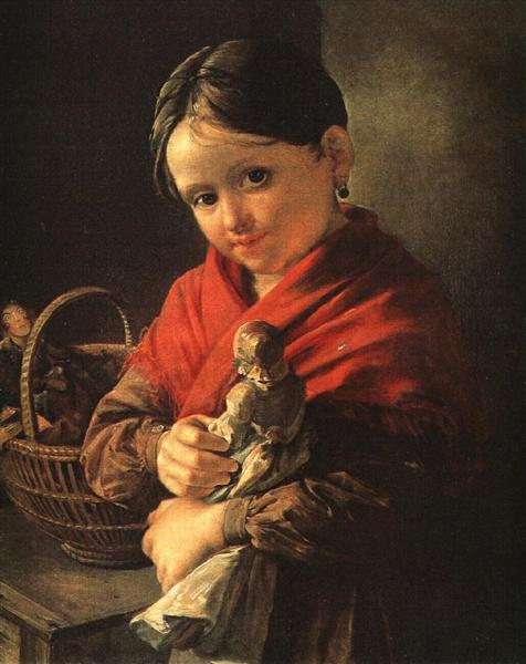Girl with a Doll, 1841 - Vassili Tropinine