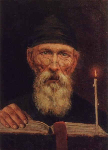 Monk with candle, 1834 - Vasily Tropinin