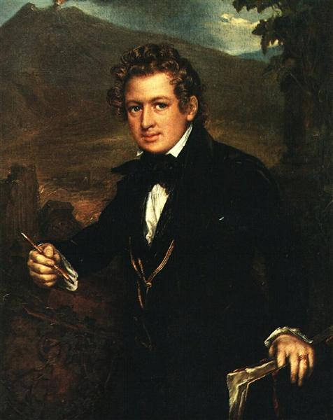Portrait of Karl Brulloff, 1836 - Vasili Tropinin
