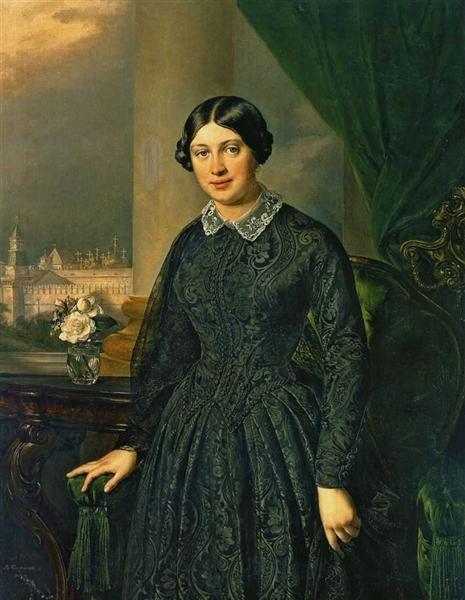 Portrait of Levitskaya Volkonskaya, 1852 - Vasily Tropinin