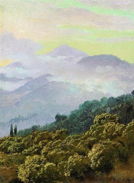 Crimean mountains - Vasili Vereshchaguin