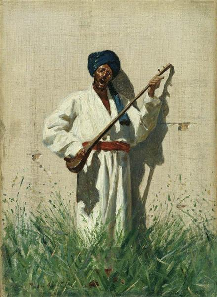 Dutar-player, 1869 - 1870 - Vasily Vereshchagin