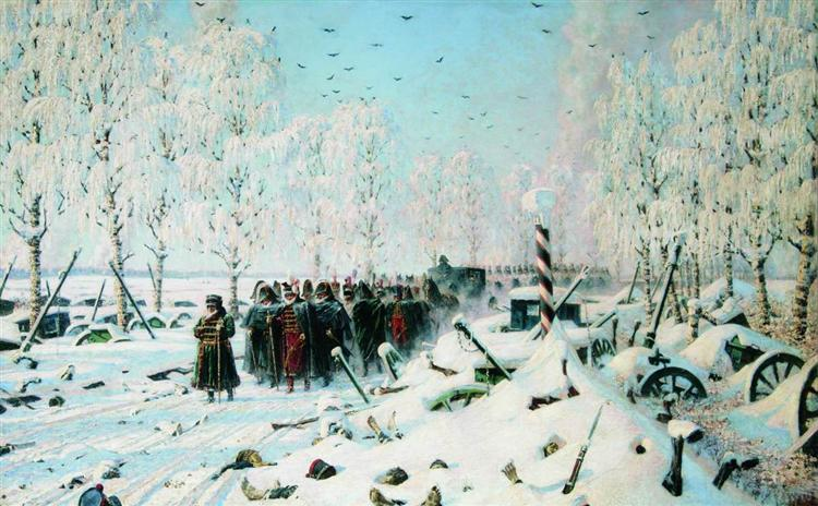 On the road. Retreat and escape ..., 1887 - 1895 - Vasily Vereshchagin