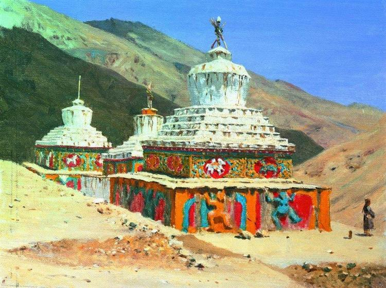 Posthumous monuments in Ladakh, 1875 - Vasily Vasilievich Verechagine