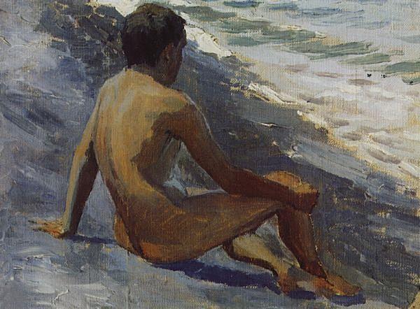 Boy at the seashore, 1895 - Victor Borisov-Musatov