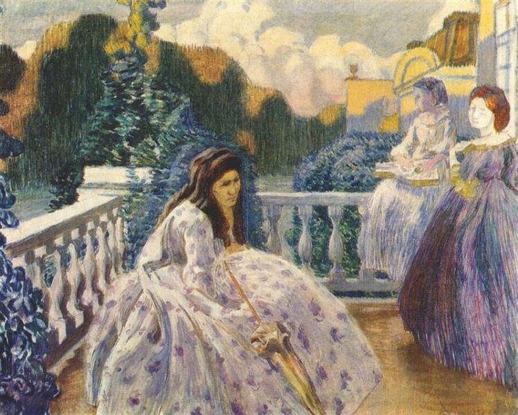 Three Ladies on the Terrace, 1903 - Victor Borisov-Musatov
