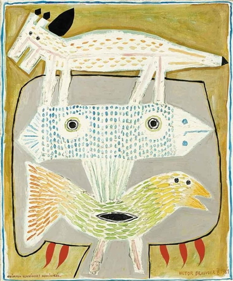 Animaux claniques hominis s 1961 victor brauner - Victor brauner loup table ...